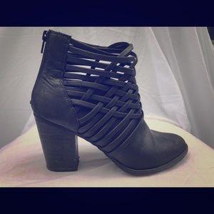 Merona dark gray braided booties